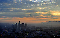 July. 10, 2009; Los Angeles, CA, USA; Aerial views of downtown Los Angeles. Mandatory Credit: Mark J. Rebilas