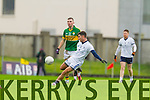 Kevin McCarthy Kerry in action against Denis McElligott IT Tralee in the McGrath cup at Austin Stack Park on Sunday.