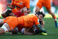 Javier Ortega Desio of the Jaguares during the Super Rugby quarter-final match between the Emirates Lions and the Jaguares at the Emirates Airlines Park Stadium,Johannesburg, South Africa on Saturday, 21 July 2018. Photo: Steve Haag / stevehaagsports.com