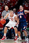 Illinois Fighting Illini guard Sam Maniscalco (0) defends against Wisconsin Badgers guard Ben Brust (1) during a Big Ten Conference NCAA college basketball game on Sunday, March 4, 2012 in Madison, Wisconsin. The Badgers won 70-56. (Photo by David Stluka)