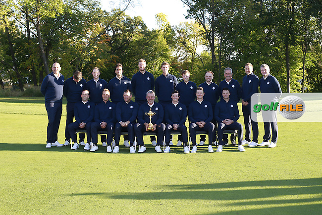 European Team Photos ahead of the practice for the Ryder Cup, Hazeltine national Golf Club, Chaska, Minnesota, USA.  27/09/2016<br /> Picture: Golffile | Fran Caffrey<br /> <br /> <br /> All photo usage must carry mandatory copyright credit (&copy; Golffile | Fran Caffrey)
