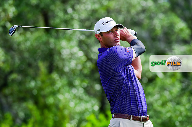 Shawn Stefani (USA) watches his tee shot on 1 during the round 3 of  the Valero Texas Open, JW Marriott TPC San Antonio, Texas, USA. 4/23/2016.<br /> Picture: Golffile   Ken Murray<br /> <br /> <br /> All photo usage must carry mandatory copyright credit (&copy; Golffile   Ken Murray)