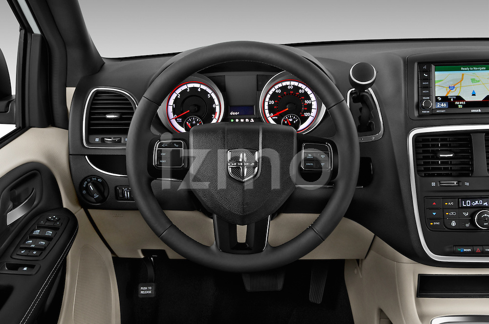 Car pictures of steering wheel view of a 2017 Dodge Grand-Caravan SXT 5 Door Minivan Steering Wheel