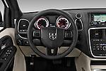 Car pictures of steering wheel view of a 2017 Dodge Grand-Caravan SXT 5 Door Minivan Steering Wheel