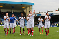 Portsmouth players applaud their fans as they head to the dressing room after winning 1-0 during Gillingham vs Portsmouth, Sky Bet EFL League 1 Football at the MEMS Priestfield Stadium on 8th October 2017