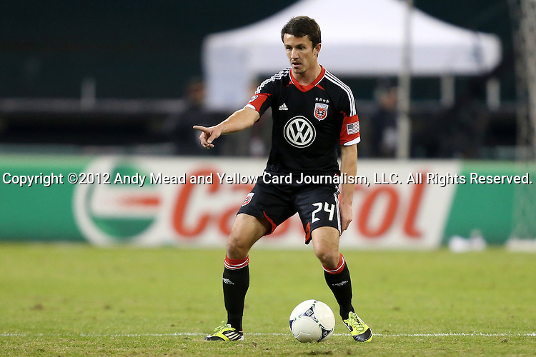 18 November 2012: DC's Lewis Neal (ENG). DC United played the Houston Dynamo at RFK Stadium in Washington, DC in the second leg of their 2012 MLS Cup Playoffs Eastern Conference Final series. The game ended in a 1-1 tie, Houston won the series 4-2 on aggregate goals.