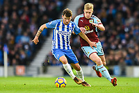 Pascal Gross of Brighton & Hove Albion (13) In action  during the EPL - Premier League match between Brighton and Hove Albion and Burnley at the American Express Community Stadium, Brighton and Hove, England on 16 December 2017. Photo by Edward Thomas / PRiME Media Images.