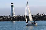 Sailing near Walton Light in Santa Cruz