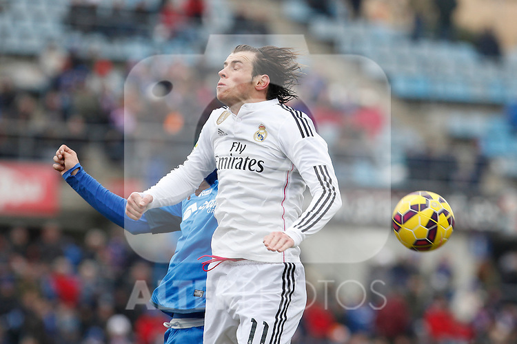 Real Madrid´s Gareth Bale during La Liga match at Coliseum Alfonso Perez stadium  in Getafe, Spain. January 18, 2015. (ALTERPHOTOS/Victor Blanco)