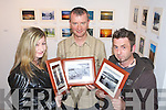 "Winners of the Samhlaiocht Photography competition from left Christina Tydings, Tralee, Simon Quinn, Tralee, and Murt Mulcahy Camp pictured at the Samhlaiocht gallery on Thursday night. Mike Foley, Samhlaiocht competition Co-ordinator said ""The quality and variety of photographs was simply astonishing. We were absolutely delighted with the work submitted and pleasantly surprised that work came in from all over Ireland and abroad. This year we had two themes "" Summer Light and Winter Light and photographers really took the themes to heart.""."
