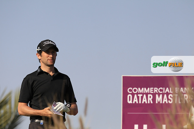 Gregory BOURDY (FRA) on the 16th tee during Saturday's Final Round of the 2015 Commercial Bank Qatar Masters held at Doha Golf Club, Doha, Qatar.: Picture Eoin Clarke, www.golffile.ie: 1/24/2015
