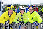 Eamon Collins, Tina Donovan Castleisland and Carol Williams Killorglin  at the start of the Castleisland fun Cycle race on Sunday ..