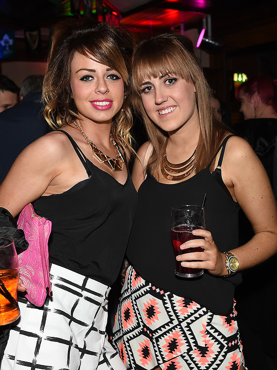 Maria Fagan and Ciara Leavy pictured at the launch of the Alice Turner charity CD in McPhail's. Photo:Colin Bell/pressphotos.ie