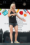 Jo Whiley at the Big Feastival 2017, at  Alex James' farm Kingham Oxfordshire uk
