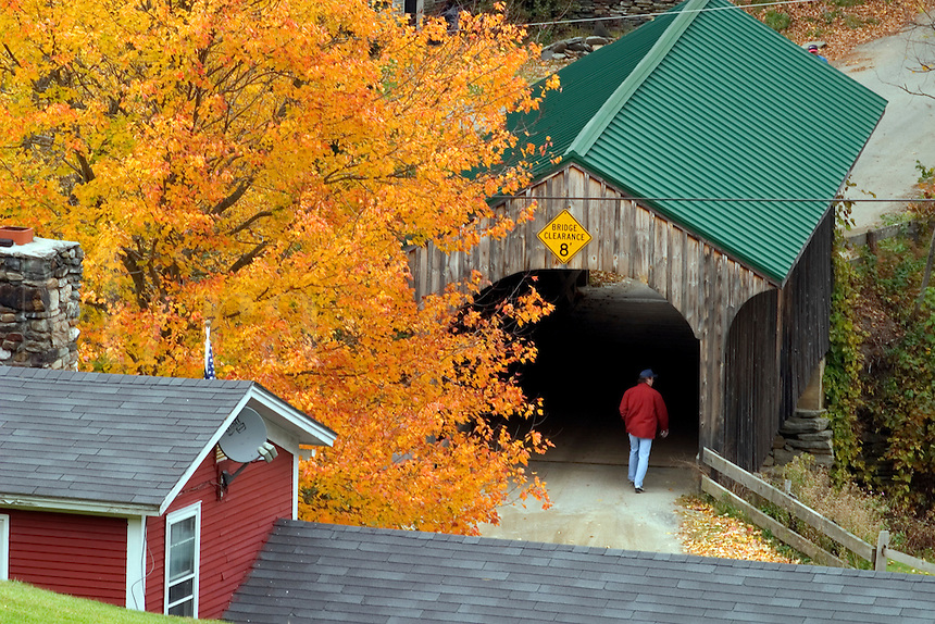 Village Bridge in Waterville, VT