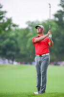Jon Rahm (ESP) hits his approach shot no 1 during round 4 of the Dean &amp; Deluca Invitational, at The Colonial, Ft. Worth, Texas, USA. 5/28/2017.<br /> Picture: Golffile | Ken Murray<br /> <br /> <br /> All photo usage must carry mandatory copyright credit (&copy; Golffile | Ken Murray)