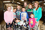 Aoife Cullane(Abbeyfeale), Killian and Tommy Moloney(USA), Keith Cullane(Abbeyfeale), Paddy Moloney(USA), Danny Moloney(USA), Jacqueline Murphy(Abbeyfeale), Orla and Amy Cullane(Abbeyfeale) pictured last Friday in Fitzgerald's Stables for this years Gather By The Feale Summer Festival.