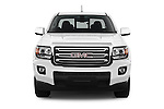 Car photography straight front view of a 2016 GMC Canyon 2WD SLE Extended Cab 4 Door Pick-up Front View