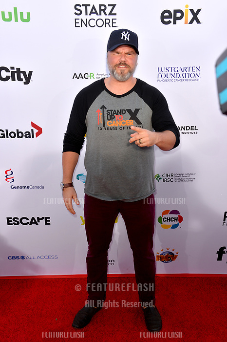 SANTA MONICA, CA. September 07, 2018: Tyler Labine at the 2018 Stand Up To Cancer fundraiser at Barker Hangar, Santa Monica Airport.