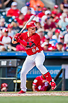 24 February 2019: St. Louis Cardinals top prospect catcher Andrew Knizner at bat during a Spring Training game against the Washington Nationals at Roger Dean Stadium in Jupiter, Florida. The Cardinals fell to the Nationals 12-2 in Grapefruit League play. Mandatory Credit: Ed Wolfstein Photo *** RAW (NEF) Image File Available ***