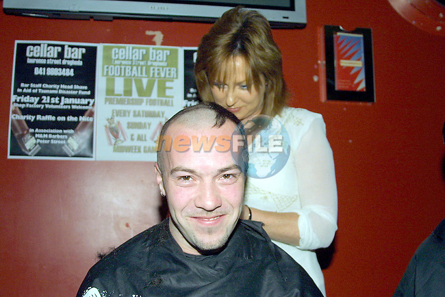 Mick O Brien with hairstylist Martina Durkin..Photo Noel Shine Newsfile.ie..This Picture has been sent to you by Newsfile Ltd..The Studio,.Millmount Abbey,.Drogheda,.Co. Meath,.Ireland..Tel: +353(0)41-9871240.Fax: +353(0)41-9871260.ISDN: +353(0)41-9871010.www.newsfile.ie..general email: pictures@newsfile.ie