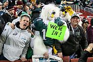 Landover, MD - December 30, 2018: Philadelphia Eagles fans during the  game between Philadelphia Eagles and Washington Redskins at FedEx Field in Landover, MD.   (Photo by Elliott Brown/Media Images International)