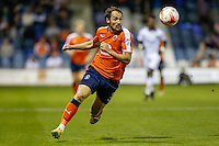 Danny Hylton of Luton Town during the Sky Bet League 2 match between Luton Town and Newport County at Kenilworth Road, Luton, England on 16 August 2016. Photo by David Horn.
