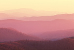 Mountain ranges at sunrise, Shenandoah National Park, Virginia
