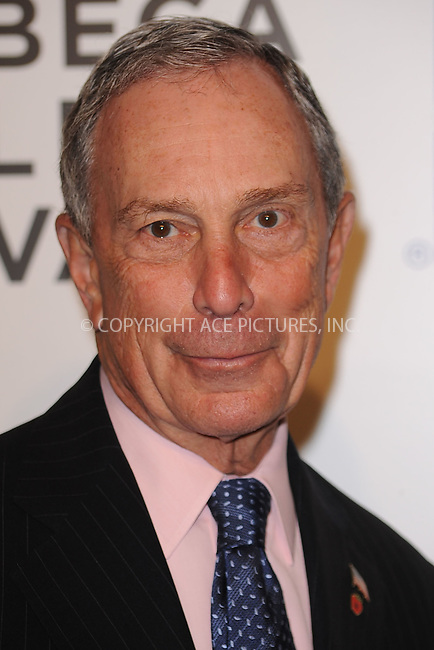 WWW.ACEPIXS.COM . . . . . .April 20, 2011...New York City...Michael Bloomberg attends the opening night premiere of 'The Union' at the 2011 Tribeca Film Festival at World Financial Center Plaza on April 20, 2011 in New York City.....Please byline: KRISTIN CALLAHAN - ACEPIXS.COM.. . . . . . ..Ace Pictures, Inc: ..tel: (212) 243 8787 or (646) 769 0430..e-mail: info@acepixs.com..web: http://www.acepixs.com .
