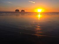Sunset at Twin Rocks, Rockaway Beach, Oregon Coast