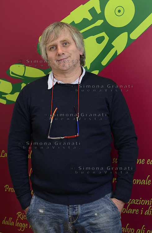 Roma, 14 Gennaio 2013.Conferenza stampa di Sinistra Ecologia Liberta su ambiente e lavoro  Giorgio Airaudo della Fiom candidato in Piemonte