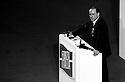 Sivio Berlusconi, leader of Forza Italia (political party), speaks at Forza Italia national convention in Rome, February 6, 1994...Silvio Berlusconi, leader di Forza Italia, parla al Convegno Nazionale del nuovo partito a Roma, 6 febbraio 1994.