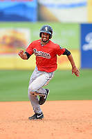 Birmingham Barons second baseman Marcus Semien #2 during a game against the Chattanooga Lookouts on April 17, 2013 at AT&T Field in Chattanooga, Tennessee.  Chattanooga defeated Birmingham 5-4.  (Mike Janes/Four Seam Images)