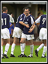 24/8/02         Copyright Pic : James Stewart                     .File Name : stewart-alloa v falkirk 27.STEVEN TOSH (11) CONGRATULATES ANDY LAWRIE AFTER HE SCORED THE SECOND GOAL.....James Stewart Photo Agency, 19 Carronlea Drive, Falkirk. FK2 8DN      Vat Reg No. 607 6932 25.Office : +44 (0)1324 570906     .Mobile : + 44 (0)7721 416997.Fax     :  +44 (0)1324 570906.E-mail : jim@jspa.co.uk.If you require further information then contact Jim Stewart on any of the numbers above.........