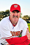 28 February 2010: Washington Nationals Spring Instructor Rick Schu poses for his Spring Training photo at Space Coast Stadium in Viera, Florida. Mandatory Credit: Ed Wolfstein Photo