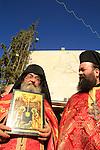 Bethlehem, Greek Orthodox Christmas ceremony in Manger Square