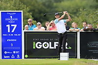Victorv Perez (FRA) tees off the 17th tee during Sunday's Final Round of the Northern Ireland Open 2018 presented by Modest Golf held at Galgorm Castle Golf Club, Ballymena, Northern Ireland. 19th August 2018.<br /> Picture: Eoin Clarke | Golffile<br /> <br /> <br /> All photos usage must carry mandatory copyright credit (&copy; Golffile | Eoin Clarke)