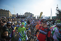 111th Paris-Roubaix 2013..peloton ready to roll soon.