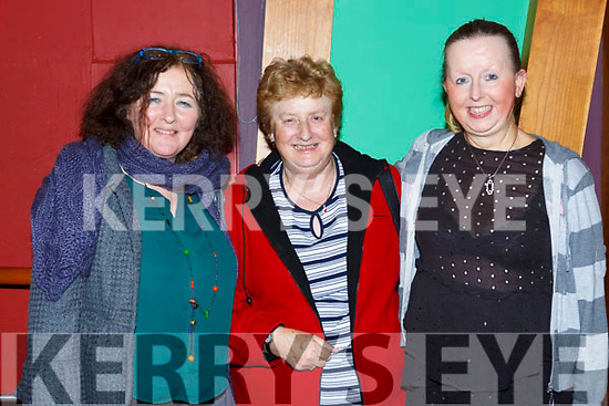 ann Garnett Frances O'Connell and Anne Foley at the Padraig O'Keeffe festival all star concert in the River Island Hotel on Sunday night
