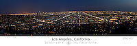 Los Angeles at Night with Latitude and Longitude
