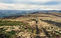 BNPS.co.uk (01202 558833)<br /> Pic: GeoffAllan/BNPS<br /> <br /> View down to Scaw'd Law near Dumfries.<br /> <br /> Wilderness walks - new book takes you down paths less travelled in the beautiful Scottish highlands.<br /> <br /> The stunning photos reveal Scotland's best remote walks, and also provide a rudimentary roof over your head at the end of the day. <br /> <br /> Geoff Allan has spent over 30 years travelling the length and breadth of the scenic country, passing through idyllic and untouched landscapes.<br /> <br /> The routes he has selected feature secret beaches, secluded glens, hidden caves and mountains.<br /> <br /> They also include bothies - remote mountain huts - which provide overnight shelter in the wilderness.<br /> <br /> Geoff has listed his top 28 trails complete with GPS maps and descriptions in his book Scottish Bothy Walks.