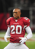 Sept. 27, 2009; Glendale, AZ, USA; Arizona Cardinals cornerback Ralph Brown against the Indianapolis Colts at University of Phoenix Stadium. Indianapolis defeated Arizona 31-10. Mandatory Credit: Mark J. Rebilas-