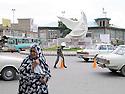 Iran 2004.Place de la Revolution ( place  Enquilab ) &agrave; Sanandaj.Iran 2004.Enqilab square in Sanandaj.<br /> .ئیران سالی 2004 ، مه یدانی ئینقلابی شاری سنه