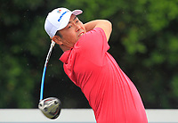 Hideto Tanihara (Asia) on the 9th tee during the Friday Foursomes of the Eurasia Cup at Glenmarie Golf and Country Club on the 12th January 2018.<br /> Picture:  Thos Caffrey / www.golffile.ie