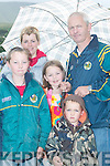 Braving the Elements: Not letting the weather spoil their fun at the annual harness racing event in Camp on Sunday were Mickey, Tom, Maura, Caoimhe and Sean Morriarty from Castlegregory..