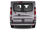 Straight rear view of a 2015 Opel Vivaro Sportive 4 Door Combi 2WD Rear View  stock images
