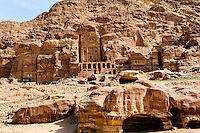 Petra is Jordan's most visited tourist attraction. Tombs.