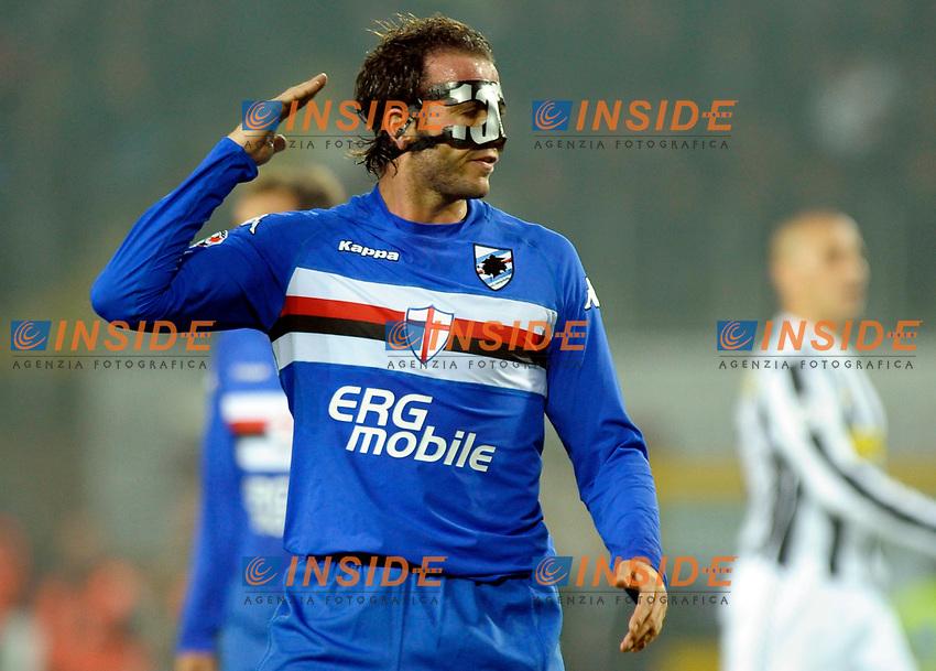 Gianpaolo Pazzini (Sampdoria)<br /> Torino 28/10/2009 Stadio Olimpico<br /> Juventus Sampdoria - Campionato di Calcio Serie A Tim 2009-2010.<br /> Foto Giorgio Perottino / Insidefoto