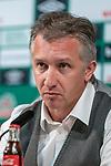 04.10.2019, wohninvest WESERSTADION, Bremen, GER, 1.FBL, PK SV Werder Bremen<br /> <br /> im Bild<br /> Frank Baumann (Geschäftsführer Fußball Werder Bremen), <br /> <br /> Foto © nordphoto / Ewert