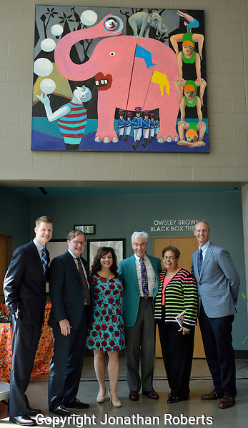 "Lincoln Elementary hosts celebration to dedicate the artwork ""Elephant"" by Stefanie Gutheil."